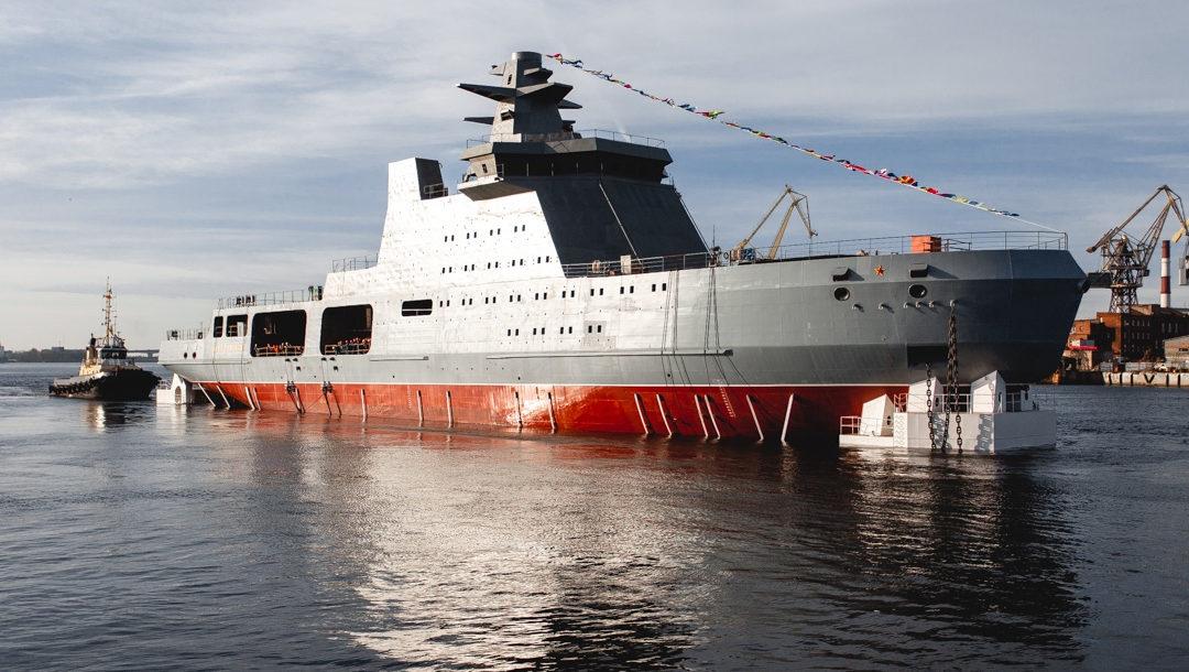 Патрульный корабль «Иван Папанин» проекта 23550 выйдет на швартовные испытания в конце 2022 года