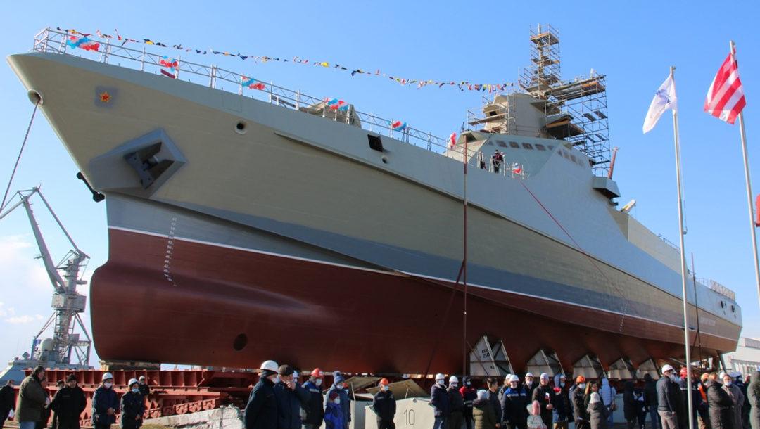 В Керчи на воду спущен патрульный корабль «Сергей Котов» проекта 22160