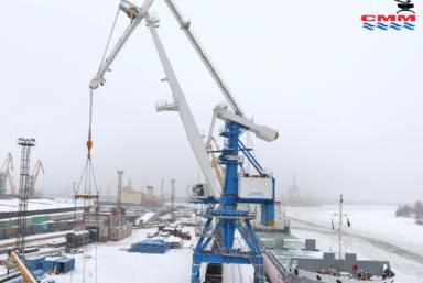 «СММ» ввело в эксплуатацию портальный кран «Витязь» в порту Санкт-Петербурга