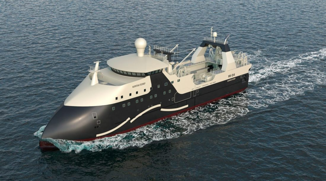 30 марта состоится церемония спуска на воду траулера «Капитан Геллер» проекта 170701