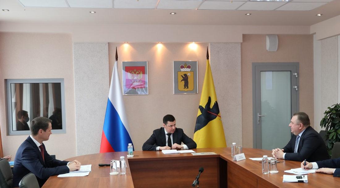 Глава ОСК и губернатор Ярославской области обсудили перспективы развития судостроения в регионе