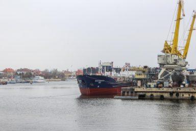 На АСПО спустили на воду танкер «Волгонефть-153» после докового ремонта