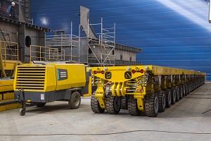 На ССК «Звезда» поставили систему самоприводных модульных транспортеров