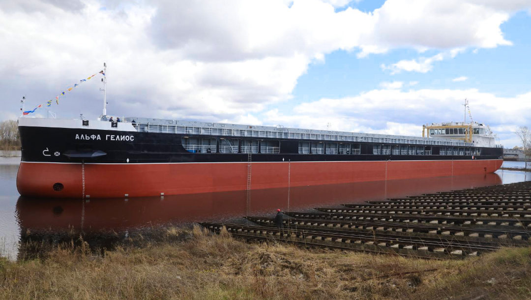 На заводе «Красное Сормово» спустили на воду сухогруз «Альфа Гелиос» проекта RSD59