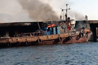 Спасатели Морспасслужбы ликвидировали пожар на буксире «Прибой»