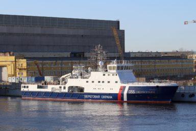 Судостроительная фирма «Алмаз» спустила на воду пограничный корабль  «Адмирал Угрюмов» проекта 22120