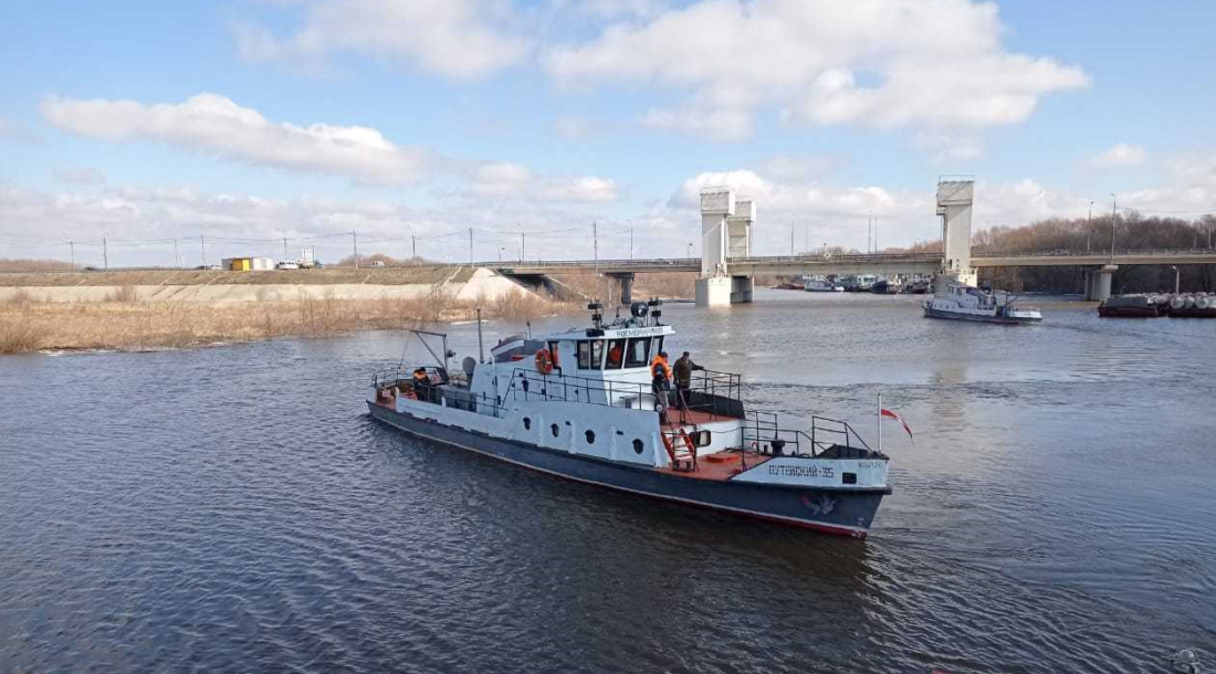 Технический флот ФГБУ «Канал имени Москвы» вышел на работу