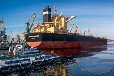 Мурманский морской торговый порт установил производственный рекорд по погрузке железорудного концентрата