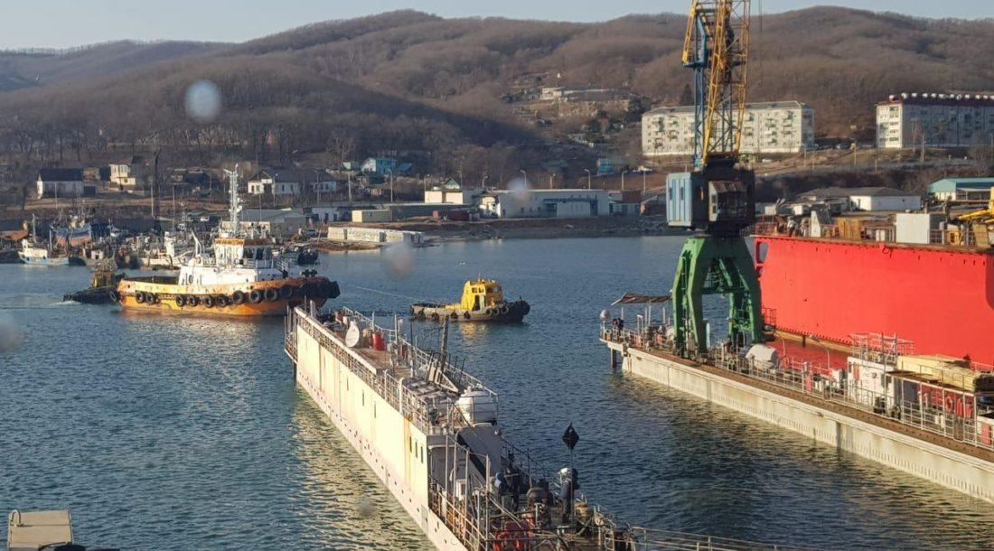 Ливадийский РСЗ ввел в эксплуатацию третий плавучий док