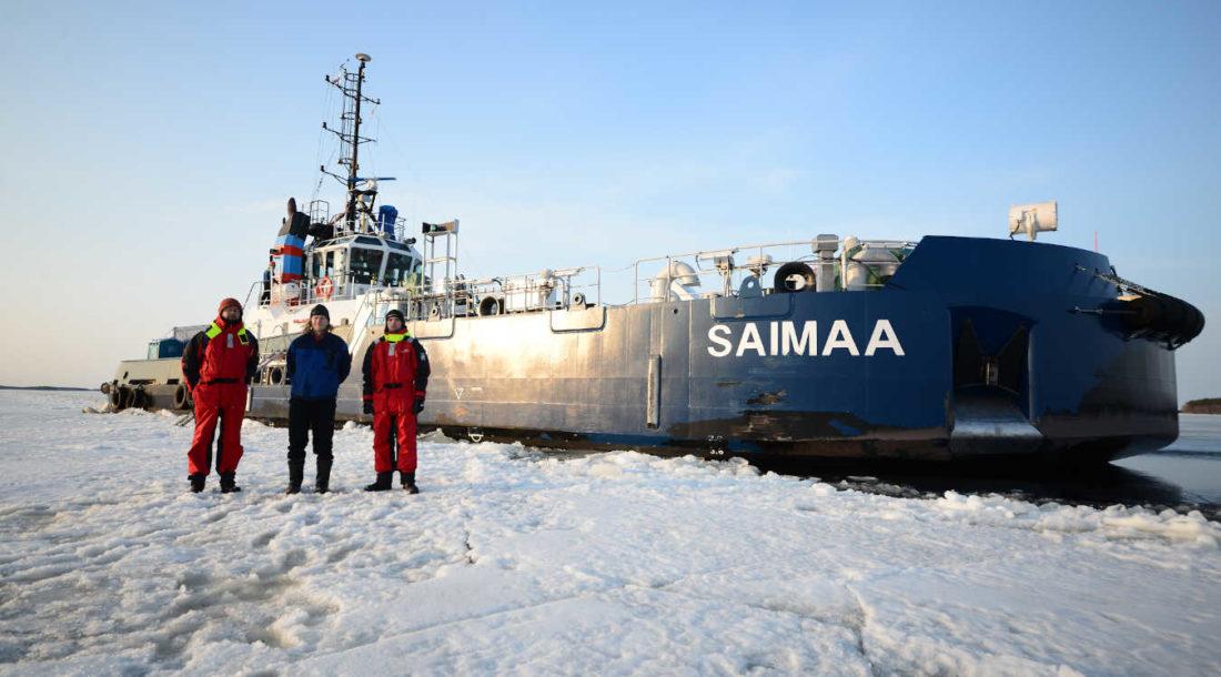 «Акер Арктик» испытал ледокольный нос Saimaa и буксир-толкач Calypso