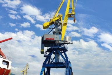 ГК «СММ» поставила очередной портальный кран «Витязь» Новороссийскому морскому торговому порту