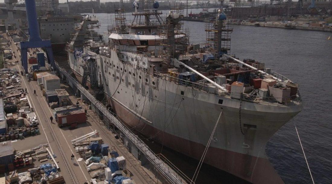 «Адмиралтейские верфи» завершили монтаж палубного оборудования на головном траулере «Капитан Вдовиченко» проекта СТ-192