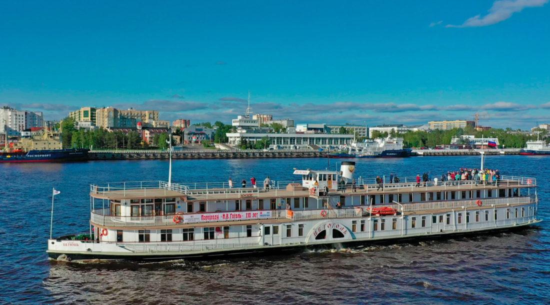 Колесный пароход «Н.В. Гоголь» начал юбилейную 110-ю навигацию