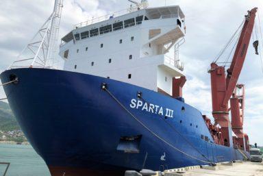 Теплоход «Спарта IV» Оборонлогистики приступил к доставке грузов на архипелаг Новая Земля