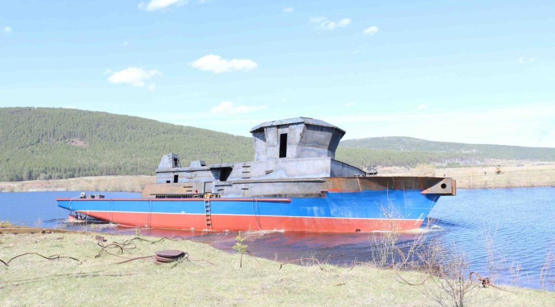 На Жигаловской РЭБ состоялся спуск на воду теплохода проекта 3052
