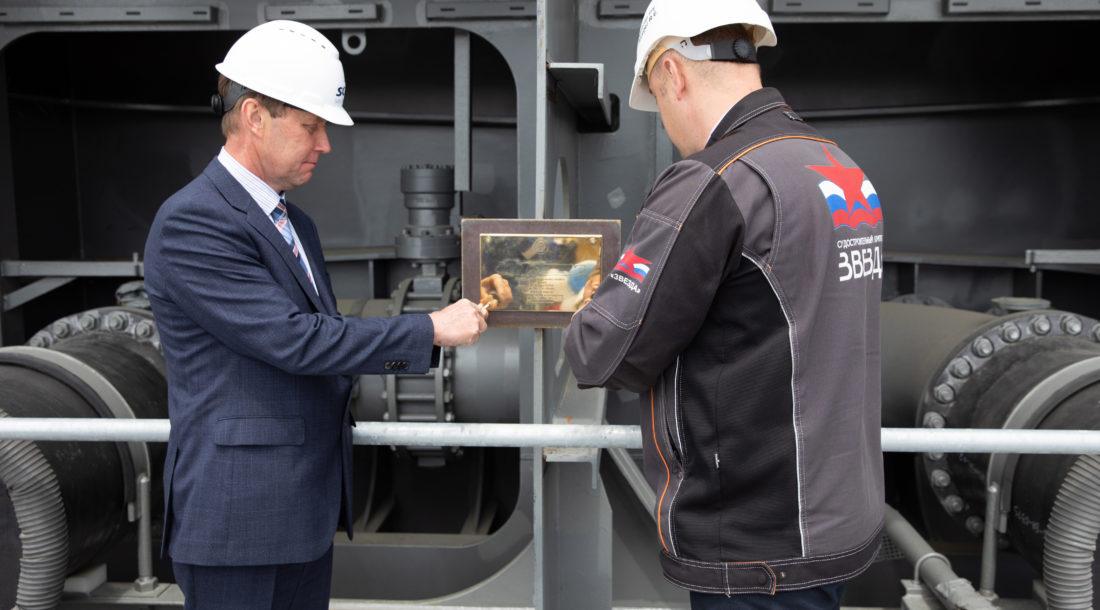 На ССК «Звезда» заложен киль головного газовоза «Совкомфлота» для «Арктик СПГ 2»
