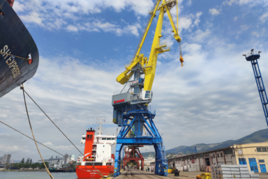 «СММ» поставила портальный кран «Витязь» Новороссийский морской торговый порт