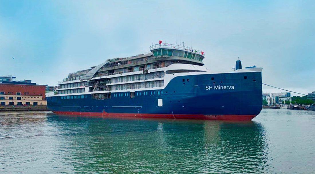 На Helsinki Shipyard состоялся спуск на воду первого экспедиционного судна SH Minerva для SWAN HELLENIC