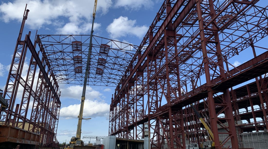 На «Жатайской судоверфи» идет строительство блока корпусных производств