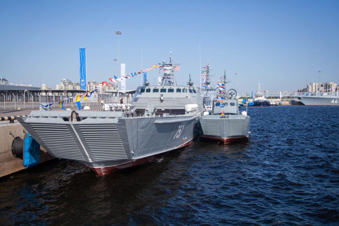 Быстроходный десантный катер на воздушной каверне проекта 11770 «Д-1441» «Алексей Баринов»