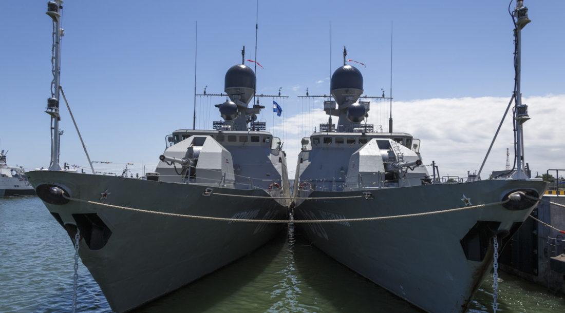 После строительства пункт «Каспий» сможет обеспечить базирование более 50 судов и кораблей