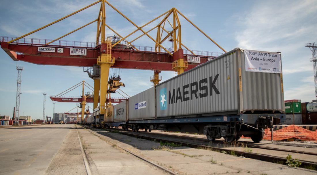 Global Ports обслужили сотый транзитный поезд интермодального сервиса АЕ19 из Азии в Европу