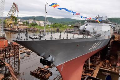 На Амурском СЗ готовят корвет «Резкий» проекта 20380 к переходу во Владивосток