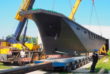 В Мурманске спустили на воду БГК «Григорий Шадрин» проекта 23370Г