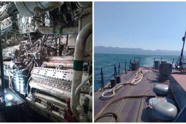 КМЗ провел техническое обслуживание двигателя МПК проекта 1124М