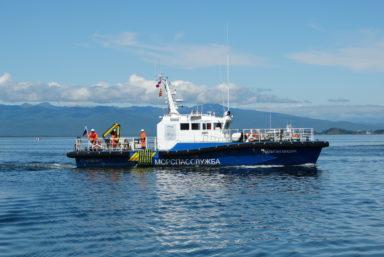 В бухте Авачинская прошло бассейновое учение с участием разнородных спасательных сил