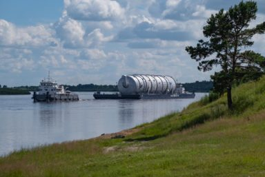 Амурскому газохимическому комплексу доставили первое крупногабаритное оборудование