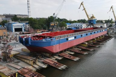 Компания «Нибулон» спустила на воду первое судно проекта В5000М