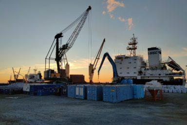 В порт Сабетта прибыло свыше 40 тыс. тонн спецоборудования для терминала СПГ «Утренний»