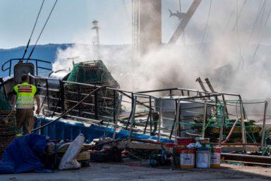 В норвежском порту сгорел российский краболов «Таманго»