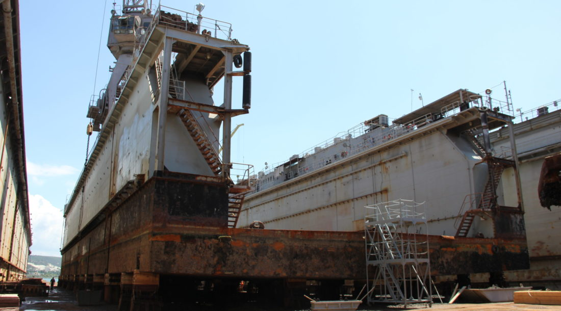 Акционирование 13-го судоремонтного завода приостановлено